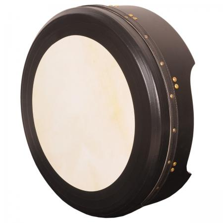 "14""X4"" HEARTLAND BODHRAN DEEP RIM TUNABLE BLACK T-BAR DEEP TUNE"