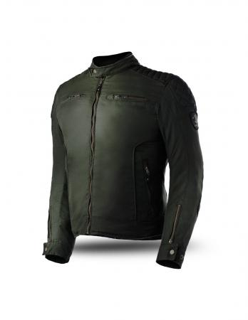 Textile biker jacket with Wax cotton outer shell construction, Textile motorcycle jacket, best textile motorcycle jacket with CE approved shoulder and elbow protectors, back normal, textile motorcycle with Reflection on front and back for night jacket, mens textile motorcycle jacket with YKK short connection zipper for pant attachment, best textile motorcycle breathable jacket 2020, cool summer motorcycle jacket with Arm adjustable snap system