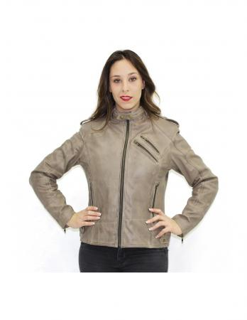 R-TECH BOLD LADY TAUPE CHAQUETA PIEL