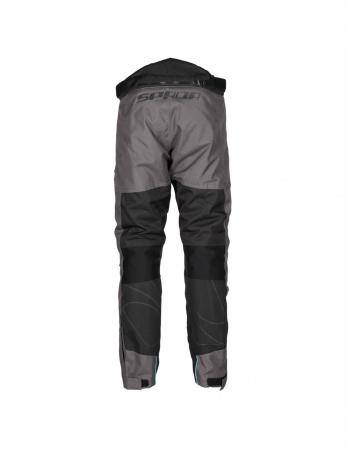 100% polyester textile motorcycle pants, textile motorcycle pants with zippers having shooter, textile motorcycle pants with Two warm hand pockets and two cargo pockets, textile motorcycle pants with adjustable waist belt, textile motorcycle pants, textile motorcycle pants with CE approved protections on the knees, textile motorcycle pants with Reflectors front, textile motorcycle pants with lateral calf zips from the knee down with Velcro fasteners for easy start