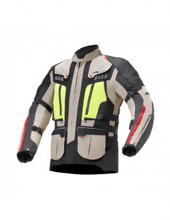 Textile biker jacket with Wax cotton outer shell construction, Textile motorcycle jacket, best textile motorcycle jacket with CE approved shoulder and elbow protectors, back normal, textile motorcycle with Reflection on front and back for night jacket, mens textile motorcycle jacket with Size Adjustable straps/belt on Arms and vest, best textile motorcycle breathable jacket 2020, cool summer motorcycle jacket with Detachable ventilation pockets on chest and shoulder