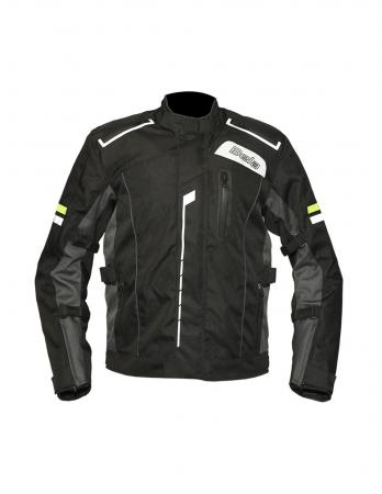 Textile biker jacket with Removable polyester quilt liner, Textile motorcycle jacket, best textile motorcycle jacket with CE approved shoulder and elbow protectors, back normal, mens textile motorcycle jacket, best textile motorcycle breathable jacket 2020, cool summer motorcycle jacket with Reflective elements for night time visibility