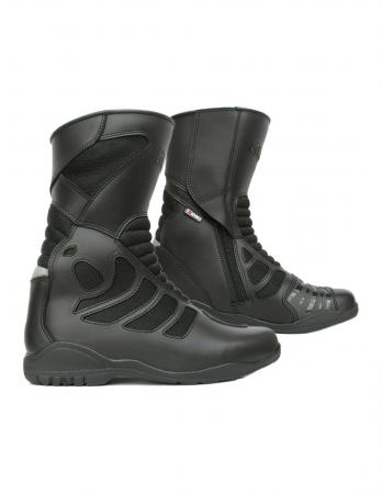 4Riders Air Stream Touring Motorcycle Boots.,PU synthetic leather and mesh fabric on the outside