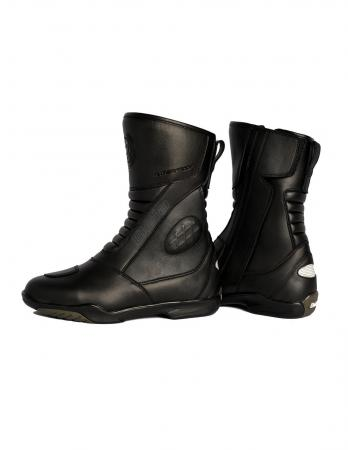 motorcycle touring boots with Long zipper with handle on the side for easy adjustment, mens motorcycle touring boots, cheap motorcycle touring boots, best motorcycle touring boots 2019 for sale, motorcycle touring boots with Reinforced Heel for Improved Grip & ankle protection, best long motorcycle touring boots 2020