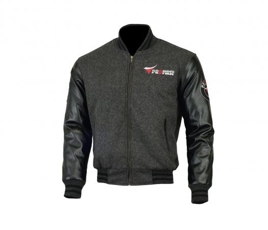 PROFIRST JKT-006 VARSITY MOTORCYCLE JACKET (GREY)