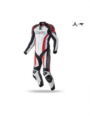 Bela Rocket Mix Kangaroo Man Leather Suit White/Black/Red