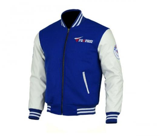 PROFIRST JKT-006 VARSITY MOTORCYCLE JACKET (BLUE)