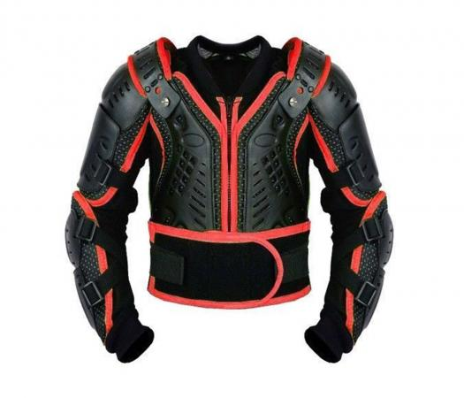 PROFIRST KIDS MOTORCYCLE BODY ARMOR (RED), CE Approved New Design Body Armour Protection Jacket