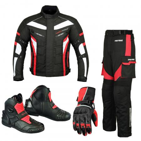 PROFIRST PACKS SUIT LEATHER GLOVES AND SHOES (RED)