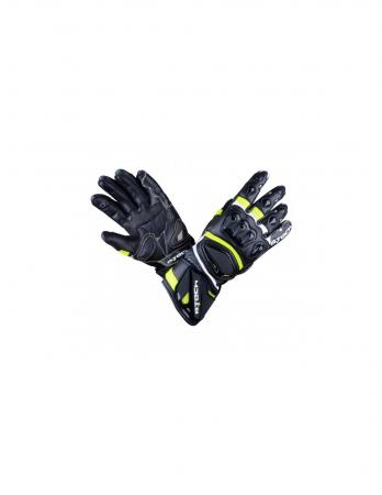 Racing leather motorcycle gloves with Polyester soft inner lining​, Racing leather motorcycle gloves with Soft hand-woven back, Racing leather motorcycle gloves with Amara in the palm for better grip, Racing leather motorcycle gloves with Elastic bracelet for easy adjustment, Racing leather motorcycle gloves with Hard Plastic Knuckle Protectors, Racing leather motorcycle gloves with TPR in fingers for protection, Racing leather motorcycle gloves with Velcro closure bracelet