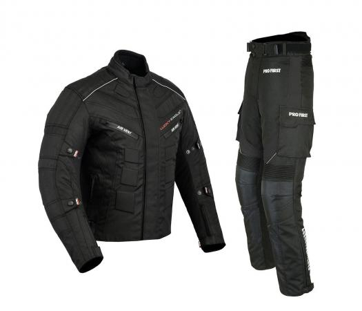MOTORBIKE PACKS SUIT BLACK CORDURA WATERPROOF