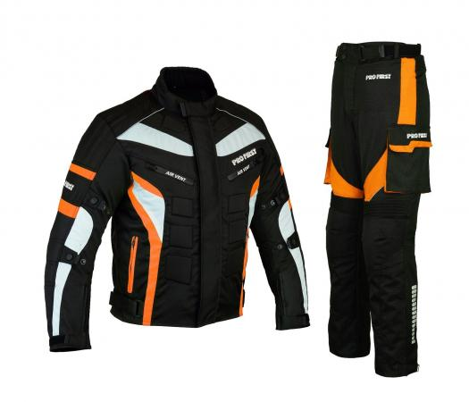 MOTORBIKE PACKS SUIT ORANGE CORDURA WATERPROOF