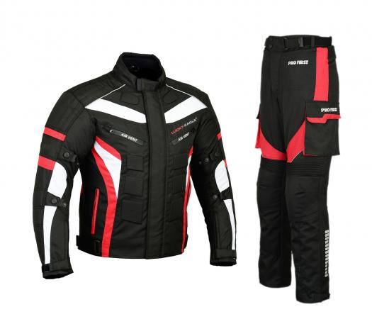 MOTORBIKE PACKS SUIT RED CORDURA WATERPROOF